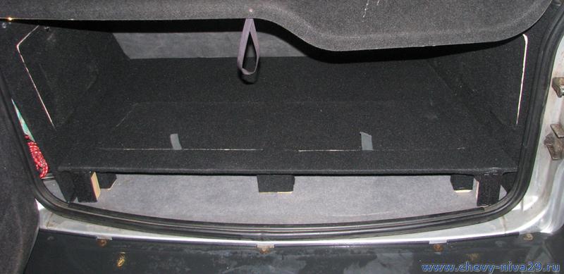 Шевроле нива органайзер в багажник своими руками